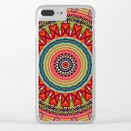 Colorful Ethnic Mandala Africa Inspiration Clear iPhone Case