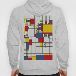 World Map Abstract Mondrian Style Hoody