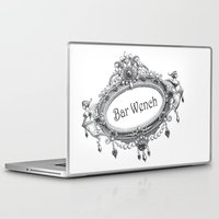 bar Laptop & iPad Skins featuring Bar Wench by Andrea Jean Clausen - andreajeanco