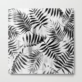 Reeya Tropical Black & White Metal Print