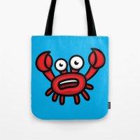 luigi Tote Bags featuring Crab Luigi by Leon-Design