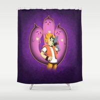 minions Shower Curtains featuring Under Wraps by Shrineheart