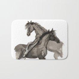 Arabian foals ink art Bath Mat