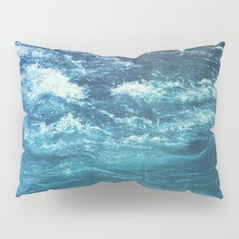 mountain river blue Pillow Sham