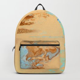 Dirty Acrylic Pour Painting 11, Fluid Art Reproduction Abstract Artwork Backpack