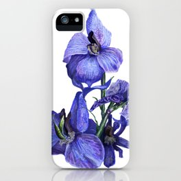 flower dressed in blues iPhone Case