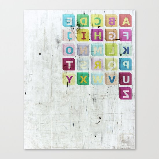 encrypted message Canvas Print