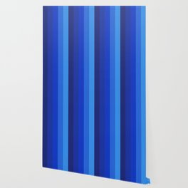 Gradient Shades Of Blue Vertical Stripes Wallpaper
