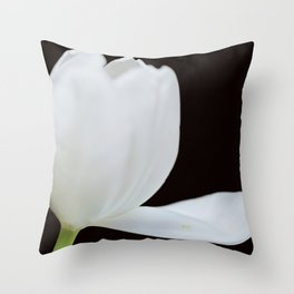 Artistic white tulip Throw Pillow