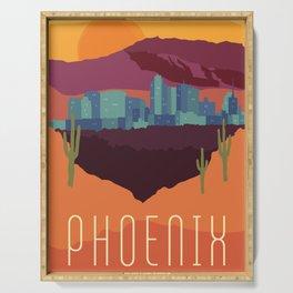 City Series - #Phoenix #Arizona #Travel #Poster Serving Tray