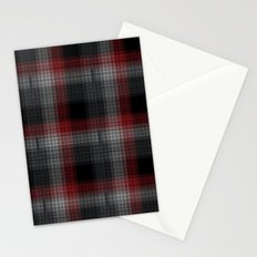 Black, Red, Lumberjack Plaid Stationery Cards