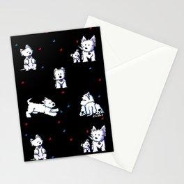 KiniArt Westie Block Party Stationery Cards