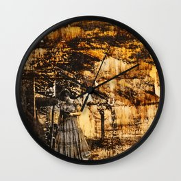 Content To Ponder (Wondering Woman) Wall Clock