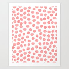 Natalia - abstract dot painting dots polka dot minimal modern gender neutral art decor Art Print