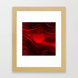 Red heart 16 Framed Art Print