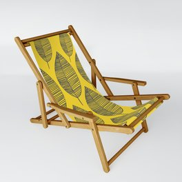 Yellow Navy Leaf Pattern Sling Chair