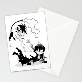 Rin vs Amaimon Stationery Cards