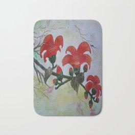 Krishnochura flowers Bath Mat
