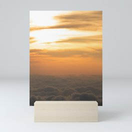 view of a charming sunset  Mini Art Print