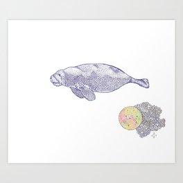 Space Manatee Art Print