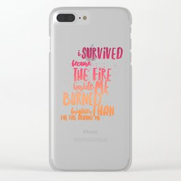 Survived because fire inside Clear iPhone Case
