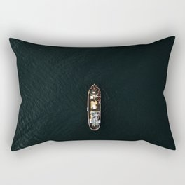 Iceland Ship from Above - Ocean Photography Rectangular Pillow