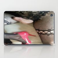 penis iPad Cases featuring funny painting transgender BDSM fetish sissy slave panties panty sex dick fuck cock penis suck lace  by Velveteen Rodent