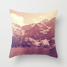 Vintage Landscape - Morskie Oko Throw Pillow