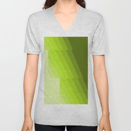 Gradient Green repetition Unisex V-Neck