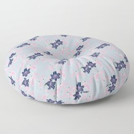 Lily pattern Floor Pillow