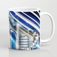 sci fi Mugs featuring Sci-Fi Series 1 by eos vector