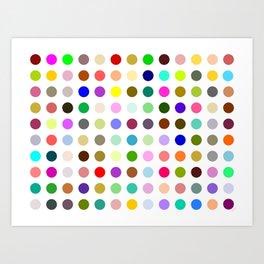 Magic dots Art Print