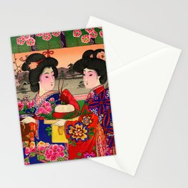 Two Geishas Stationery Cards