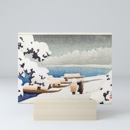 Hasui Kawase Snow at Hashidate Mini Art Print