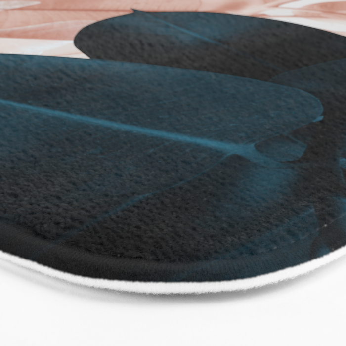 Blush & Blue Leaves Bath Mat