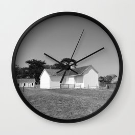 SUMMER RANCH II (B+W) Wall Clock