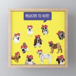 Political Pups-Register to Vote! Framed Mini Art Print