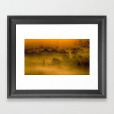 Through The Mist Box Hill Surrey Framed Art Print