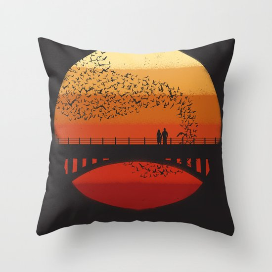 Into the Setting Sun Throw Pillow