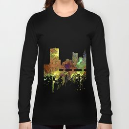 Columbus, Ohio Skyline SG - Safari Buff Long Sleeve T-shirt