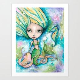 Mermaid Connection Art Print
