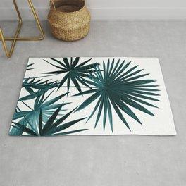 Fan Palm Leaves Jungle #1 #tropical #decor #art #society6 Rug