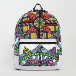 Compass Rose Mandala Backpack