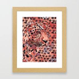 Leopard Abstract Framed Art Print