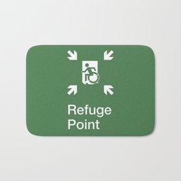 Accessible Means of Egress Icon, Emergency Refuge Point / Safe Refuge Point Sign Bath Mat
