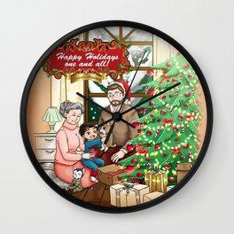 Niels Feynman | Winter celebrations Wall Clock