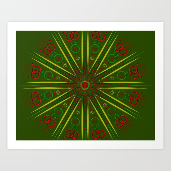 Greens and Reds Art Print