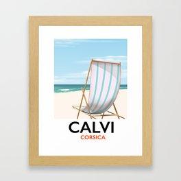 Calvi Corsica Travel poster Framed Art Print