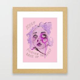 Keep picking yourself back up Framed Art Print