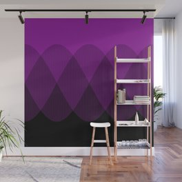 Purple to Black Ombre Signals 2 Wall Mural